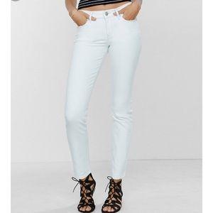 White jeans size 0 straight leg stretchy